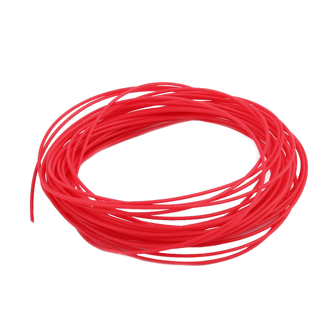 0.71mmx1.01mm PTFE Resistant High Temperature Red Tubing 5 Meters 16.4Ft
