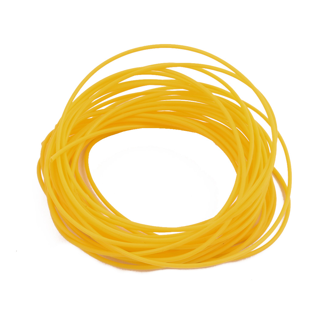 0.71mmx1.01mm PTFE Resistant High Temperature Yellow Tubing 10 Meters 32.8Ft