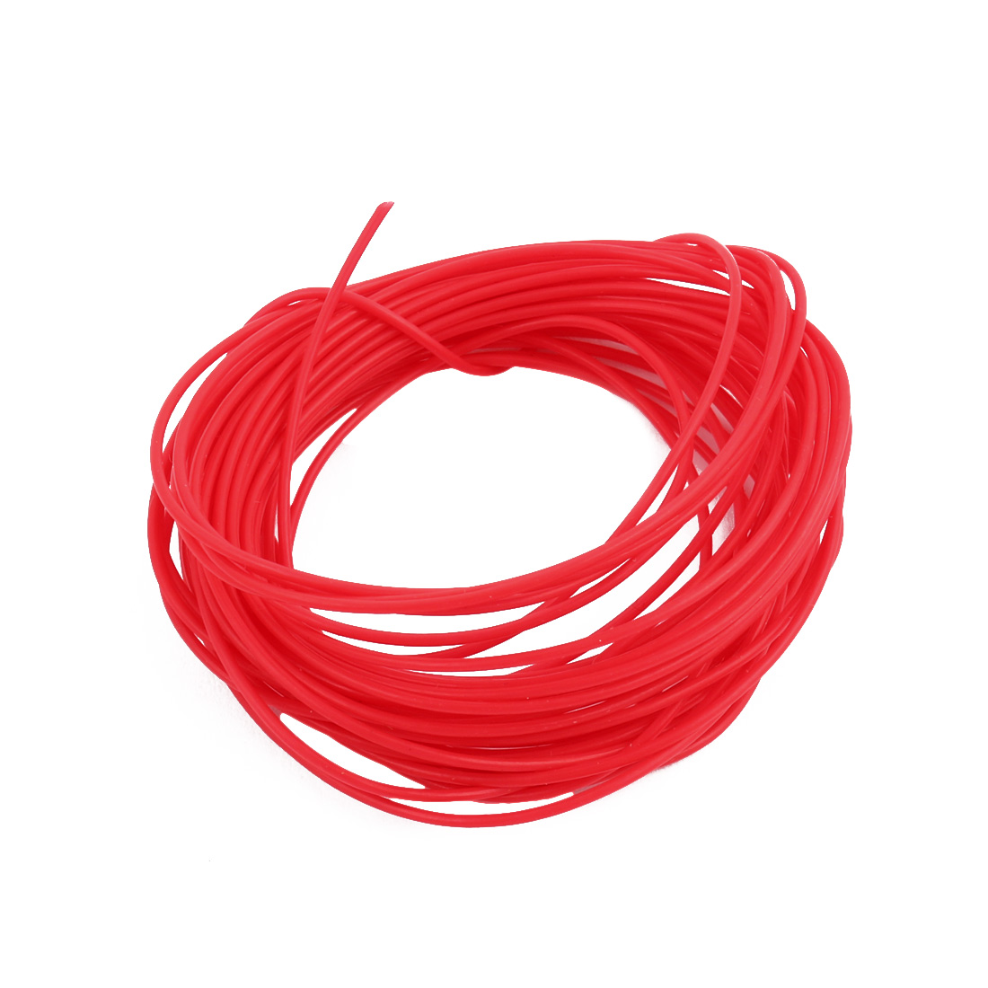 0.81mmx1.11mm PTFE Resistant High Temperature Red Tubing 10 Meters 32.8Ft