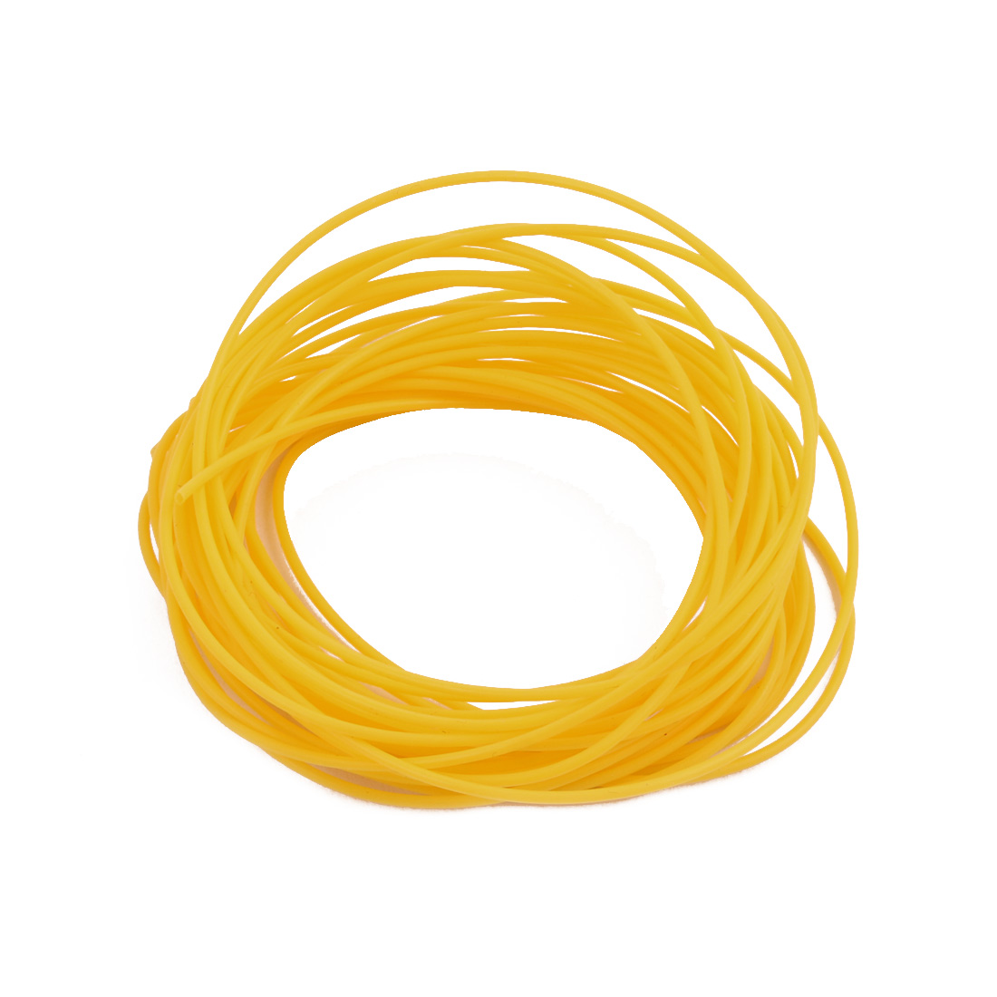 0.81mmx1.11mm PTFE Resistant High Temperature Yellow Tubing 10 Meters 32.8Ft