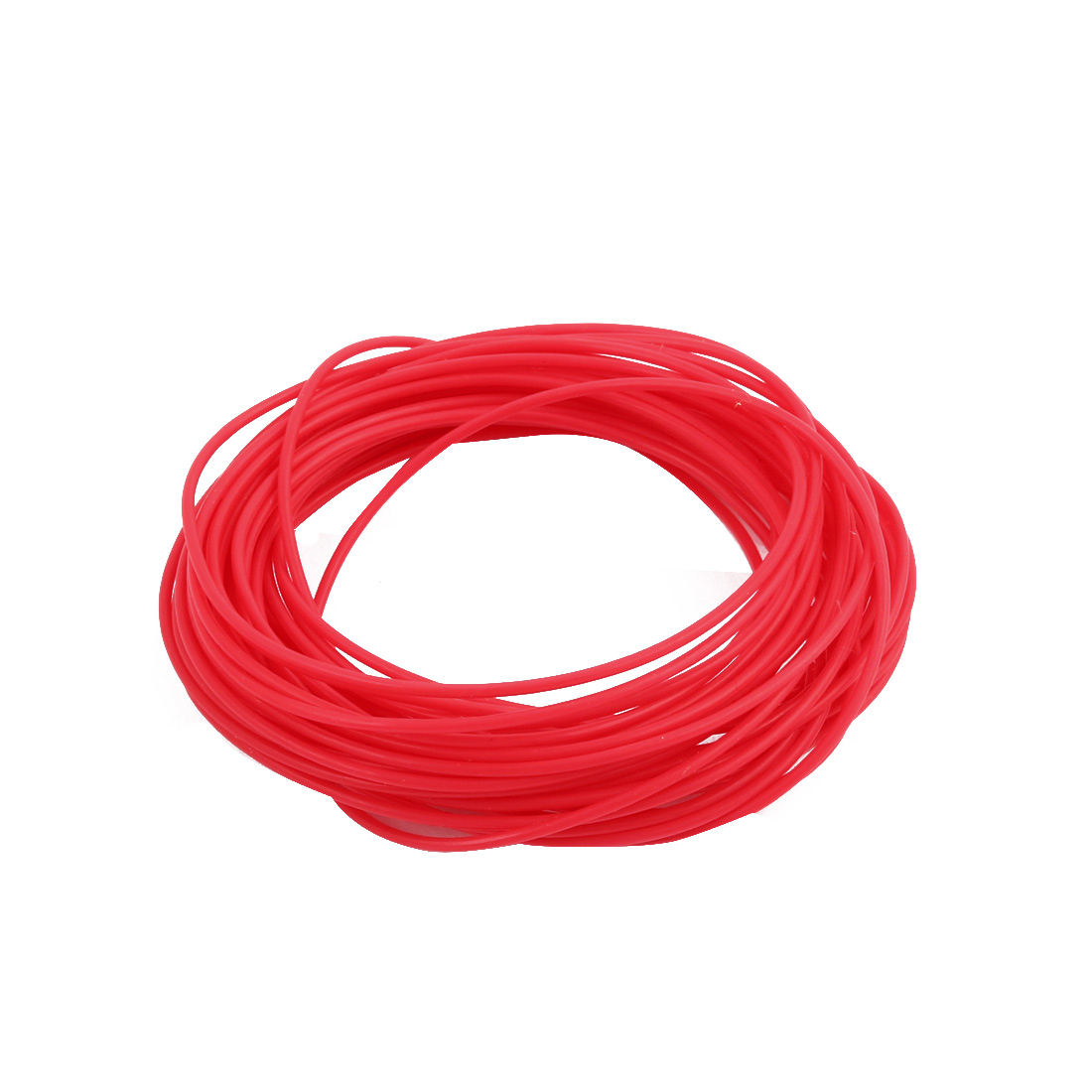 0.86mmx1.16mm PTFE Resistant High Temperature Red Tubing 5 Meters 16.4Ft