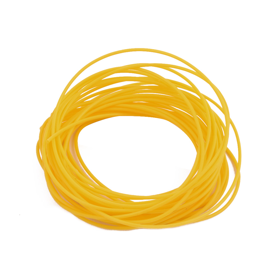 0.86mmx1.16mm PTFE Resistant High Temperature Yellow Tubing 5 Meters 16.4Ft