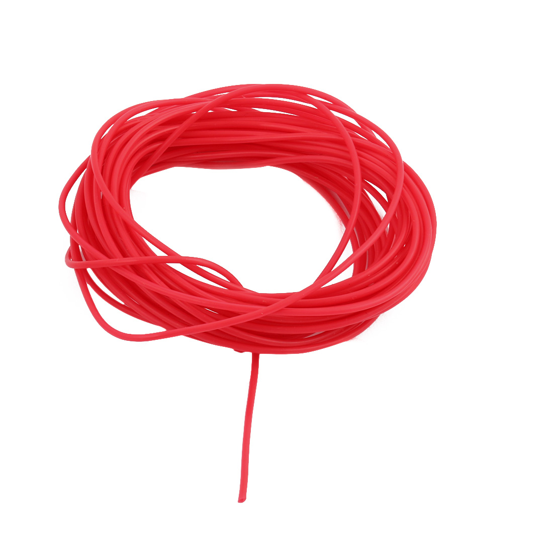 1.07mmx1.37mm PTFE Resistant High Temperature Red Tubing 5 Meters 16.4Ft