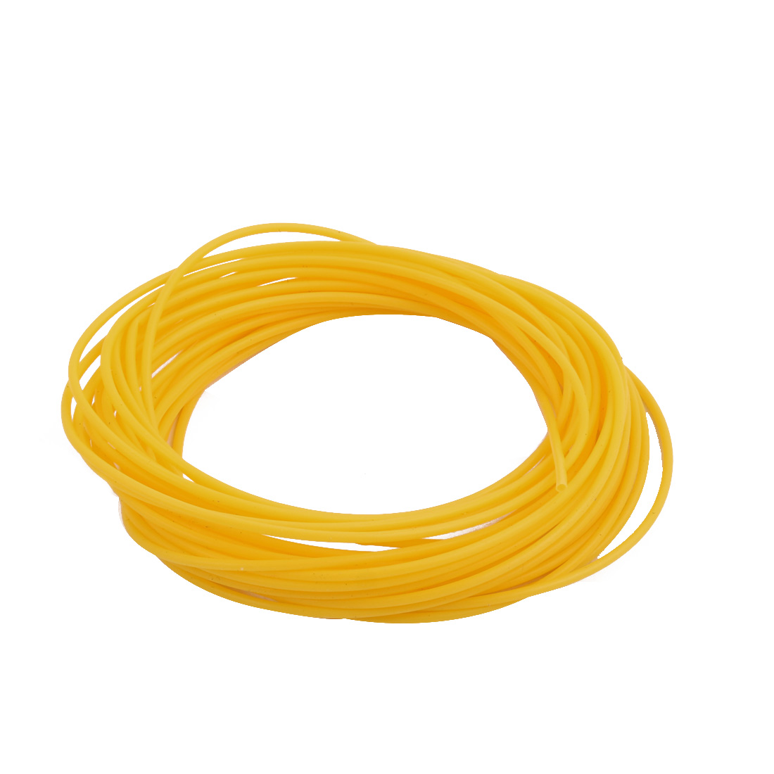 1.07mmx1.37mm PTFE Resistant High Temperature Yellow Tubing 5 Meters 16.4Ft