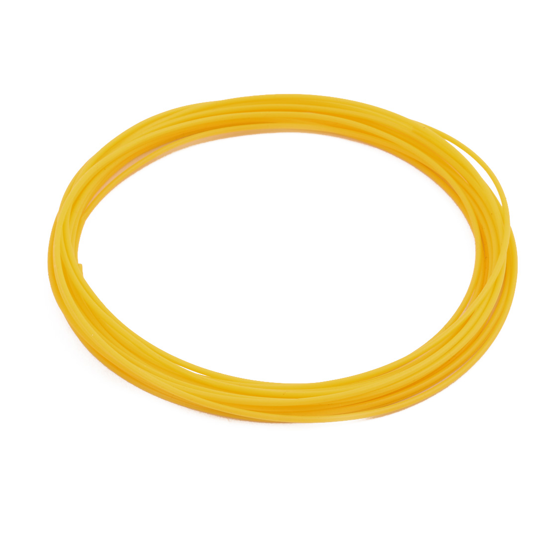 1.07mmx1.37mm PTFE Resistant High Temperature Yellow Tubing 10 Meters 32.8Ft