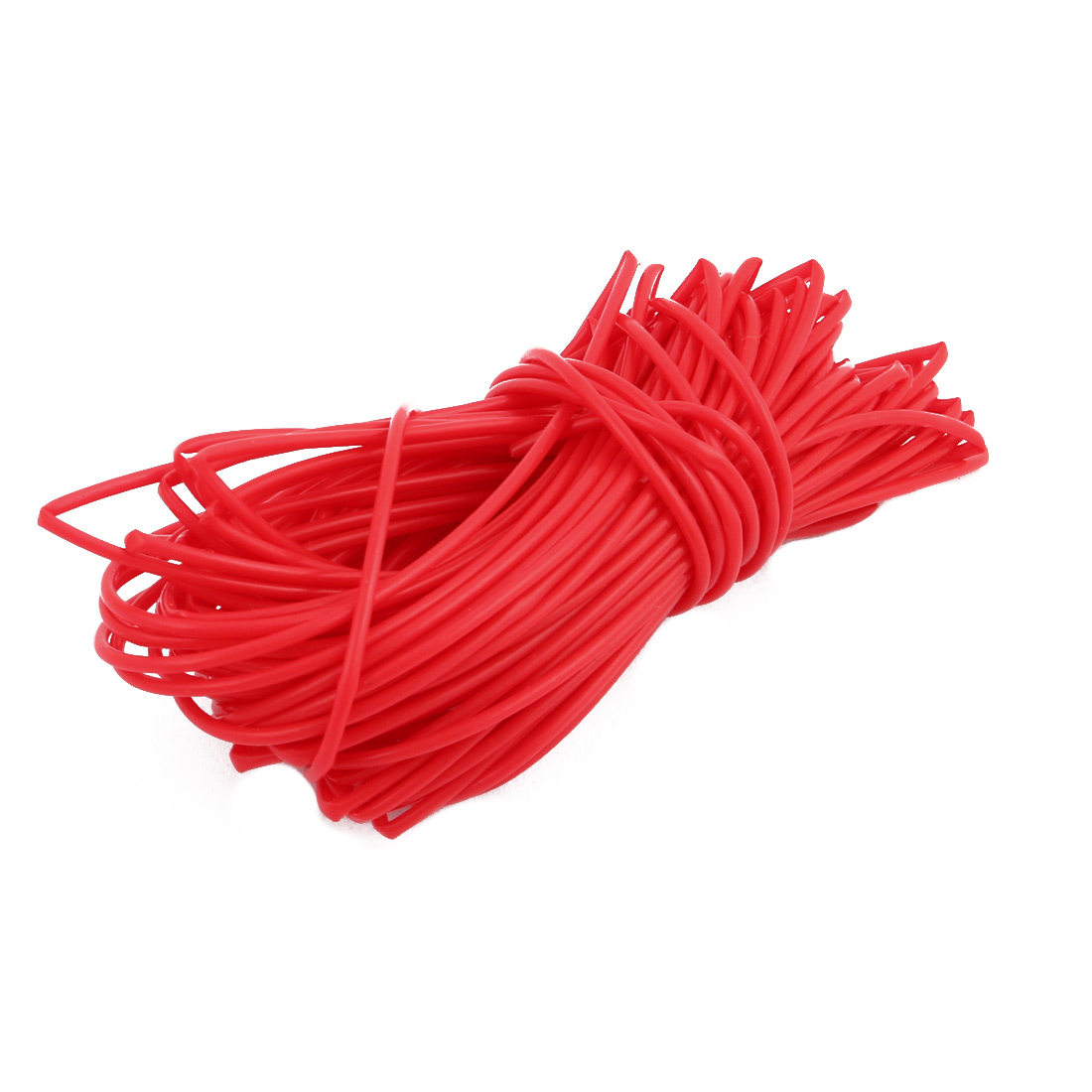 0.96mmx1.26mm PTFE Resistant High Temperature Red Tubing 5 Meters 16.4Ft