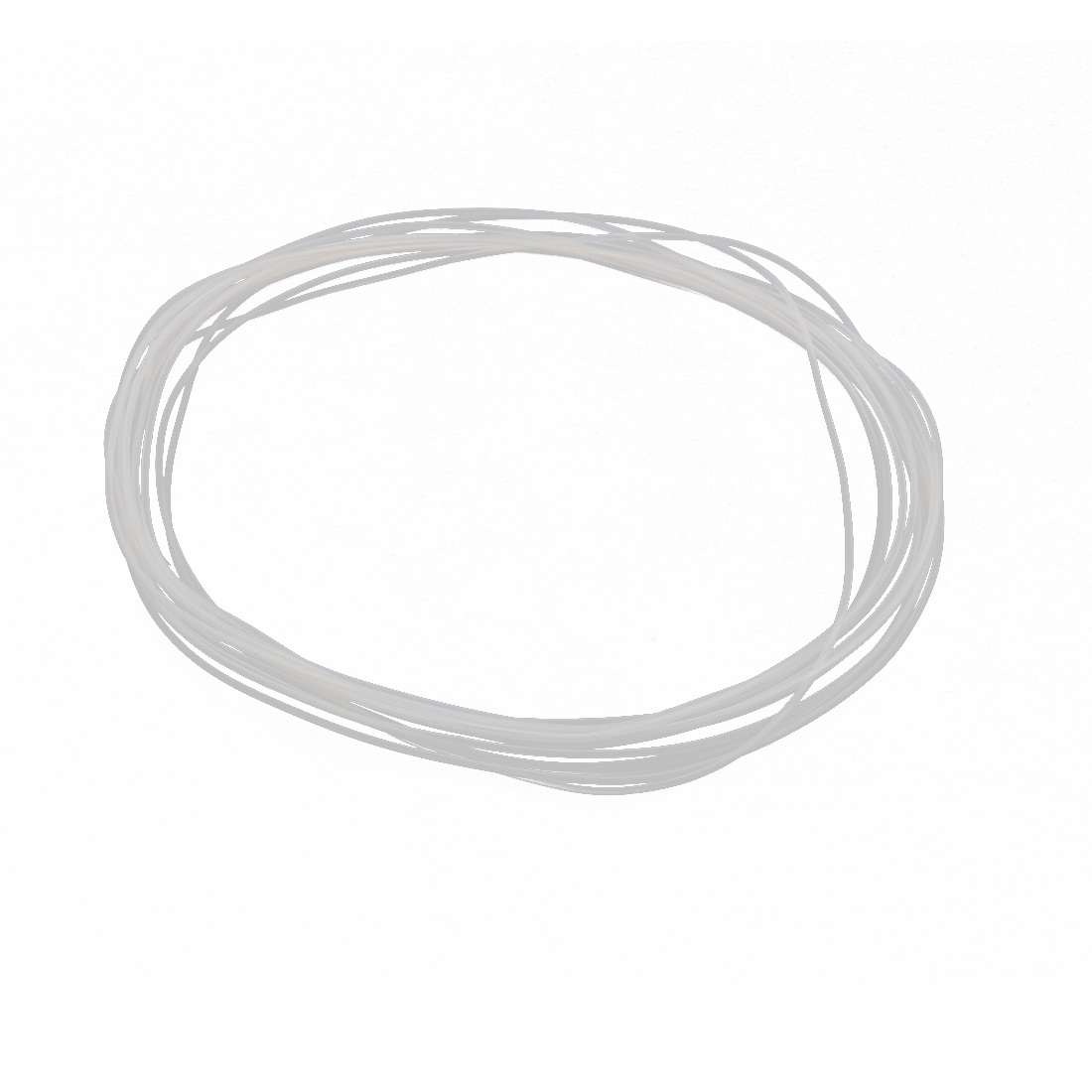 0.96mmx1.26mm PTFE Resistant High Temperature Transparent Tubing 5Meters 16.4Ft