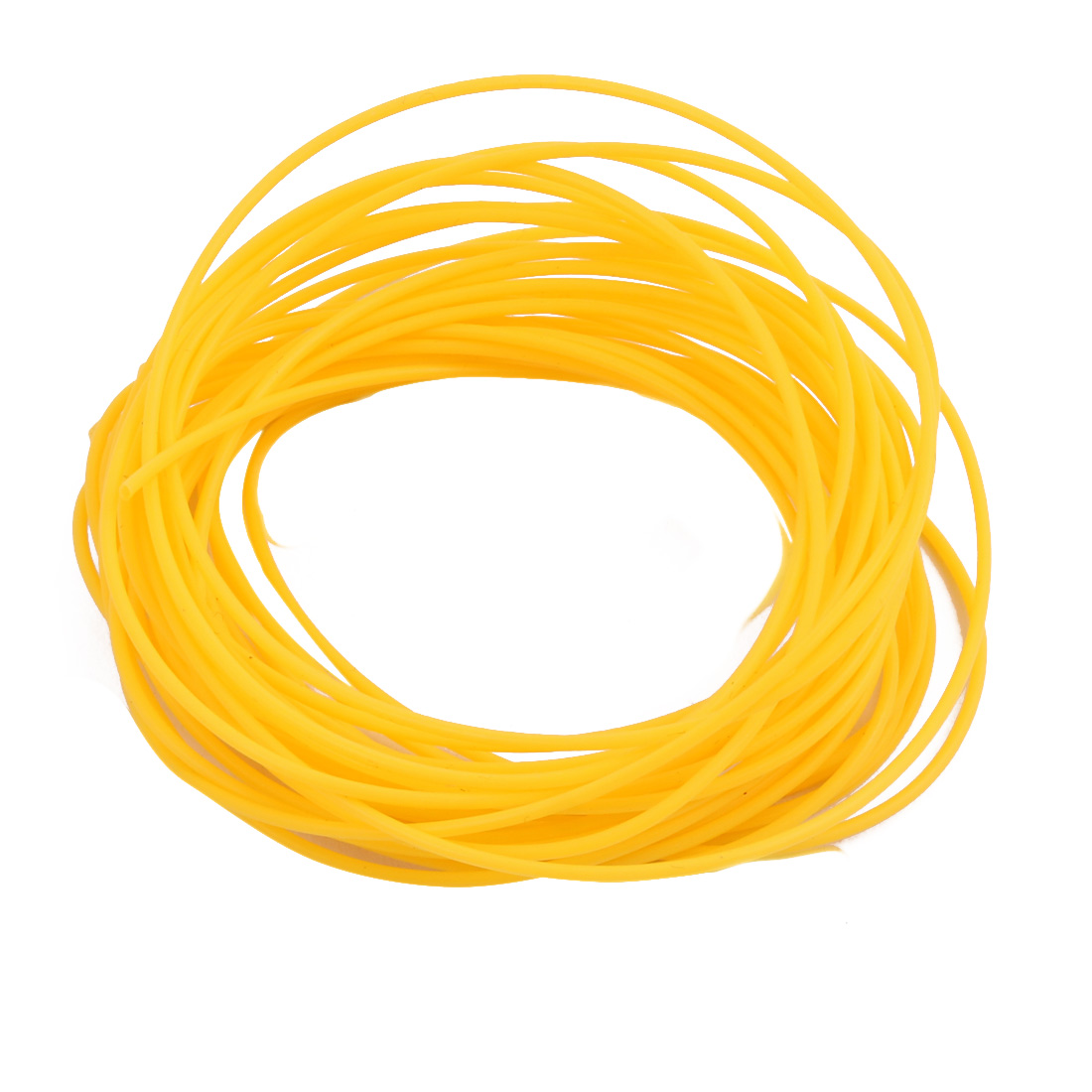 0.96mmx1.26mm PTFE Resistant High Temperature Yellow Tubing 5 Meters 16.4Ft