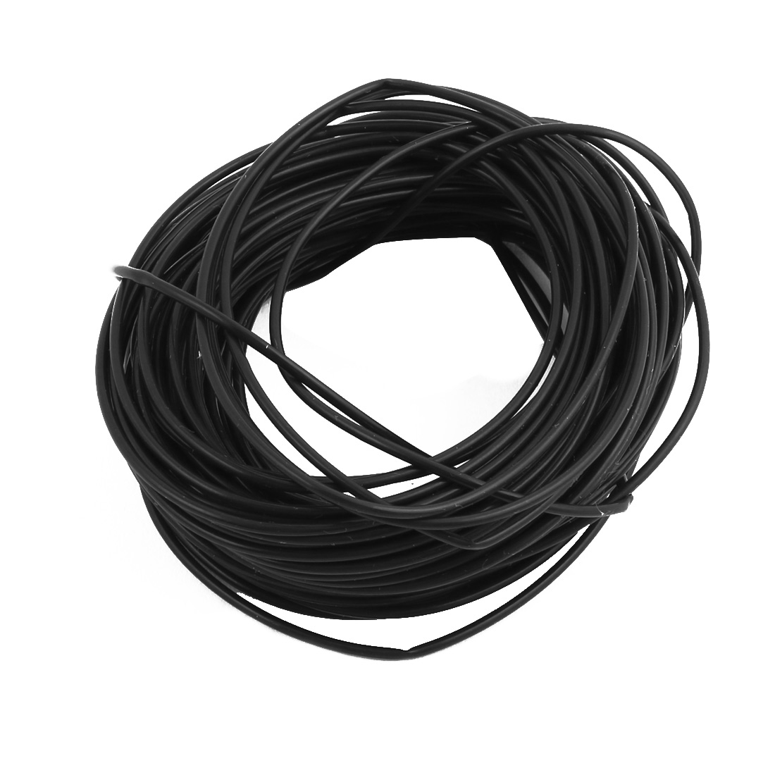 0.96mm x 1.26mm PTFE Resistant High Temperature Black Tubing 5 Meters 16.4Ft