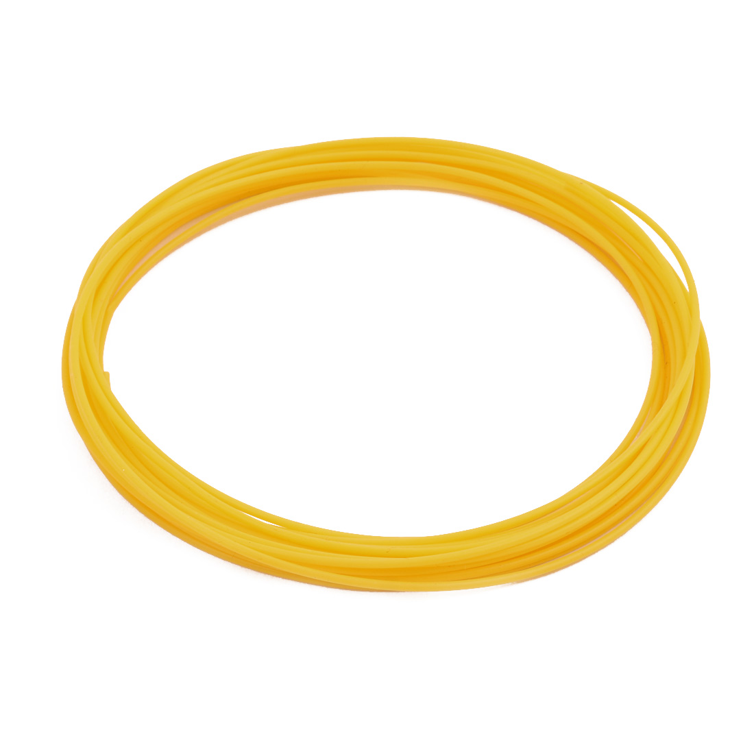 1.19mmx1.49mm PTFE Resistant High Temperature Yellow Tubing 5Meters 16.4Ft
