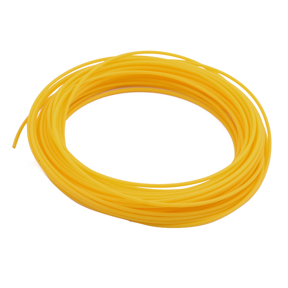 1.34mmx1.64mm PTFE Resistant High Temperature Yellow Tubing 10 Meters 32.8Ft