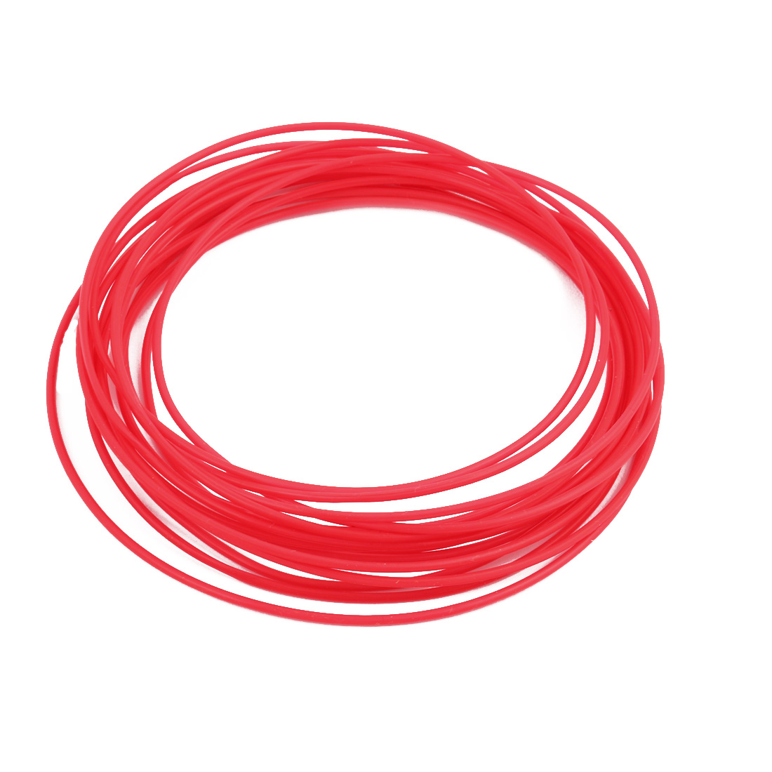 1.5mmx1.8mm PTFE Resistant High Temperature Red Tubing 5 Meters 16.4Ft