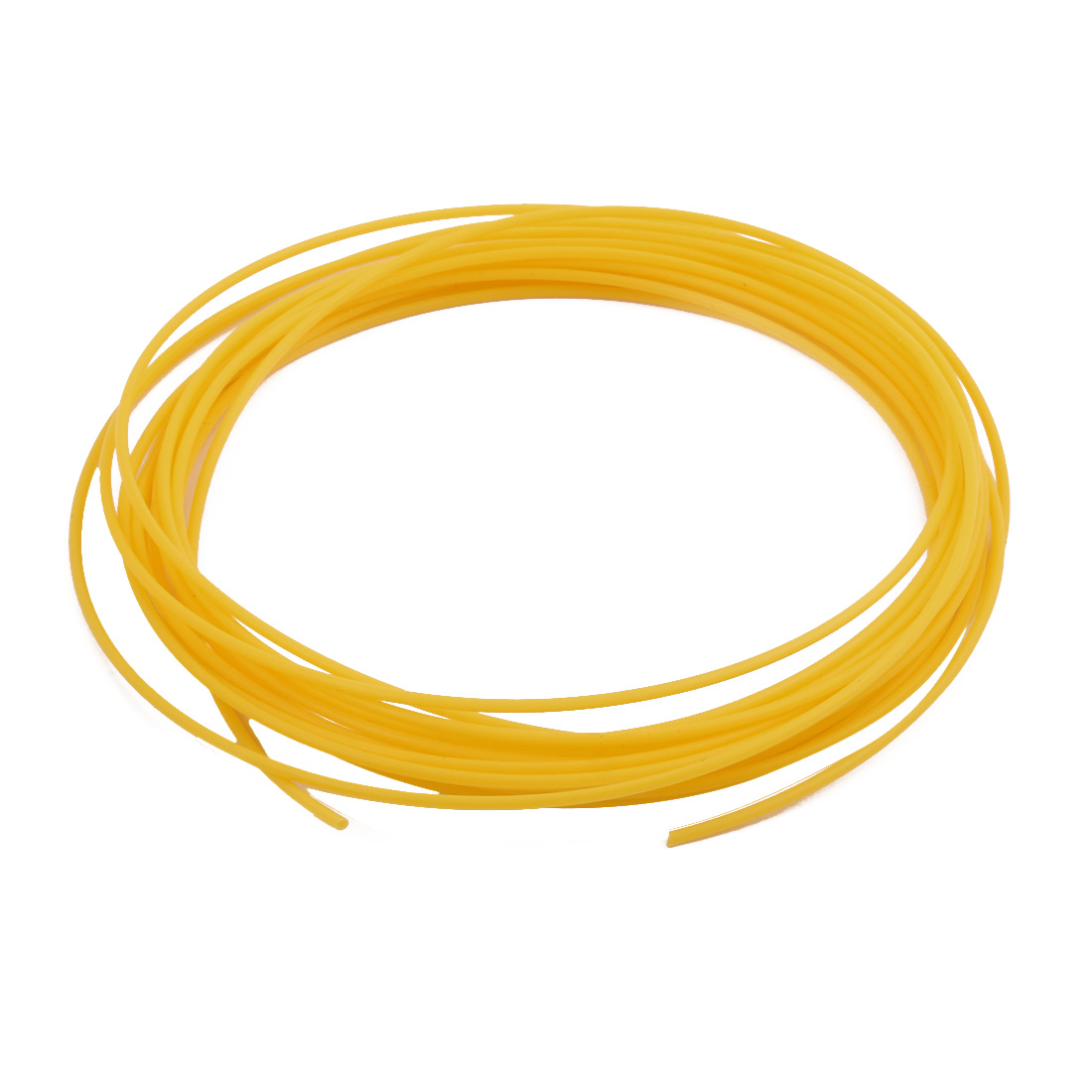 1.68mmx2.08mm PTFE Resistant High Temperature Yellow Tubing 5Meters 16.4Ft