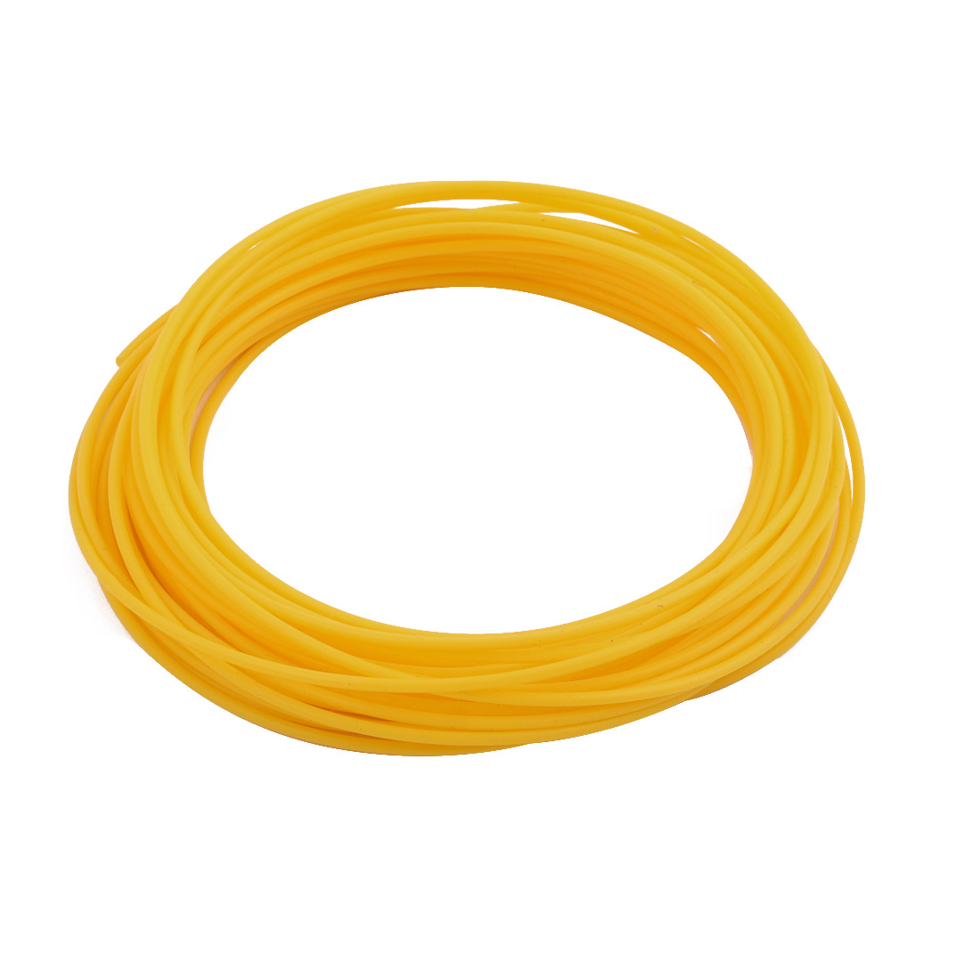 1.68mmx2.08mm PTFE Resistant High Temperature Yellow Tubing 10 Meters 32.8Ft