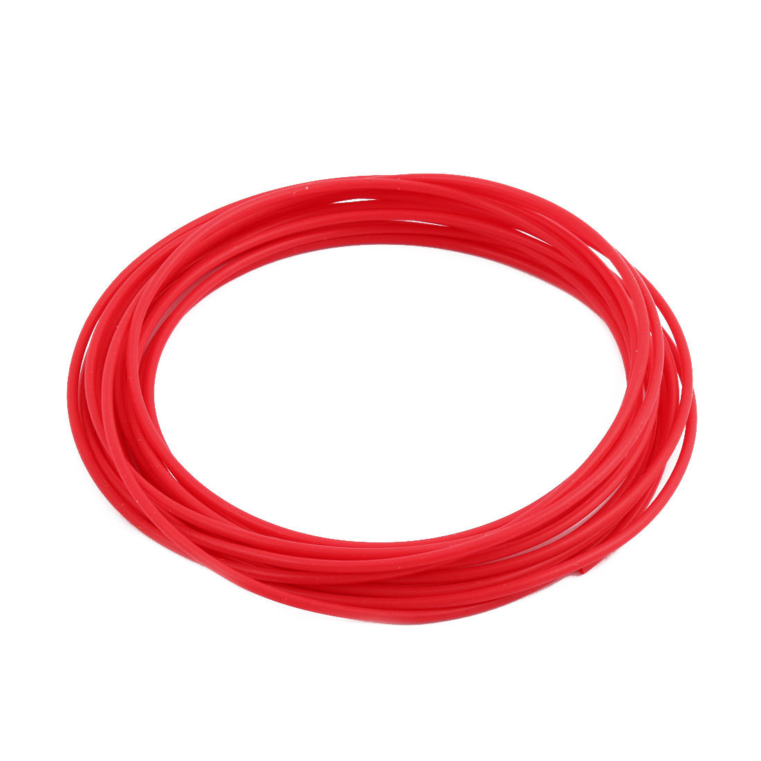 2.16mmx2.56mm PTFE Resistant High Temperature Red Tubing 5 Meters 16.4Ft