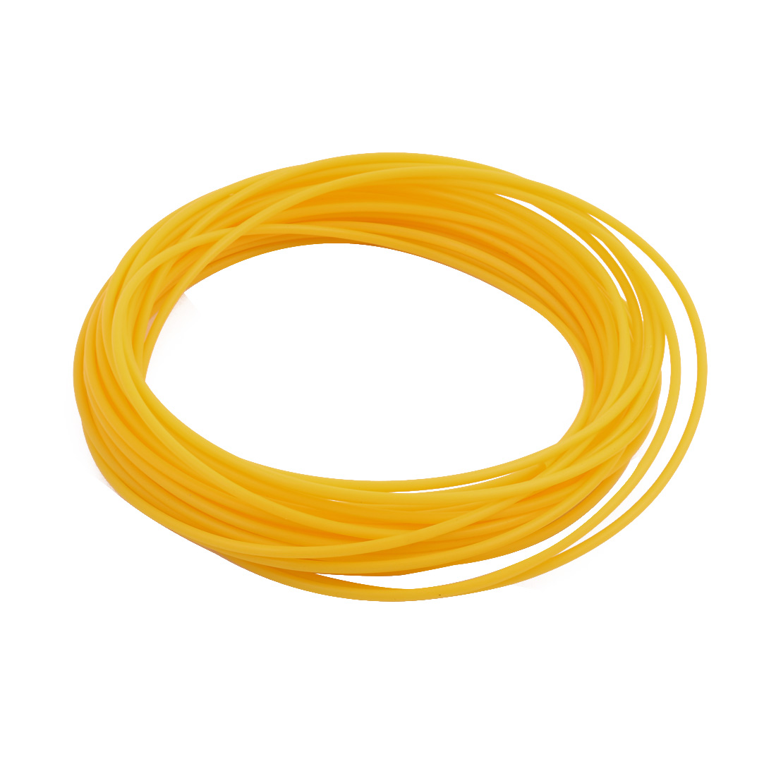 2.16mmx2.56mm PTFE Resistant High Temperature Yellow Tubing 10 Meters 32.8Ft
