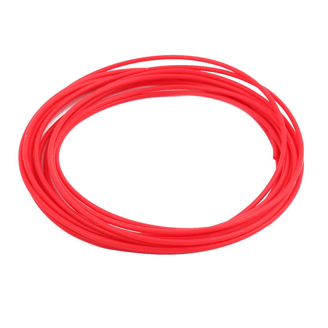 1.93mmx2.33mm PTFE Resistant High Temperature Red Tubing 5 Meters 16.4Ft