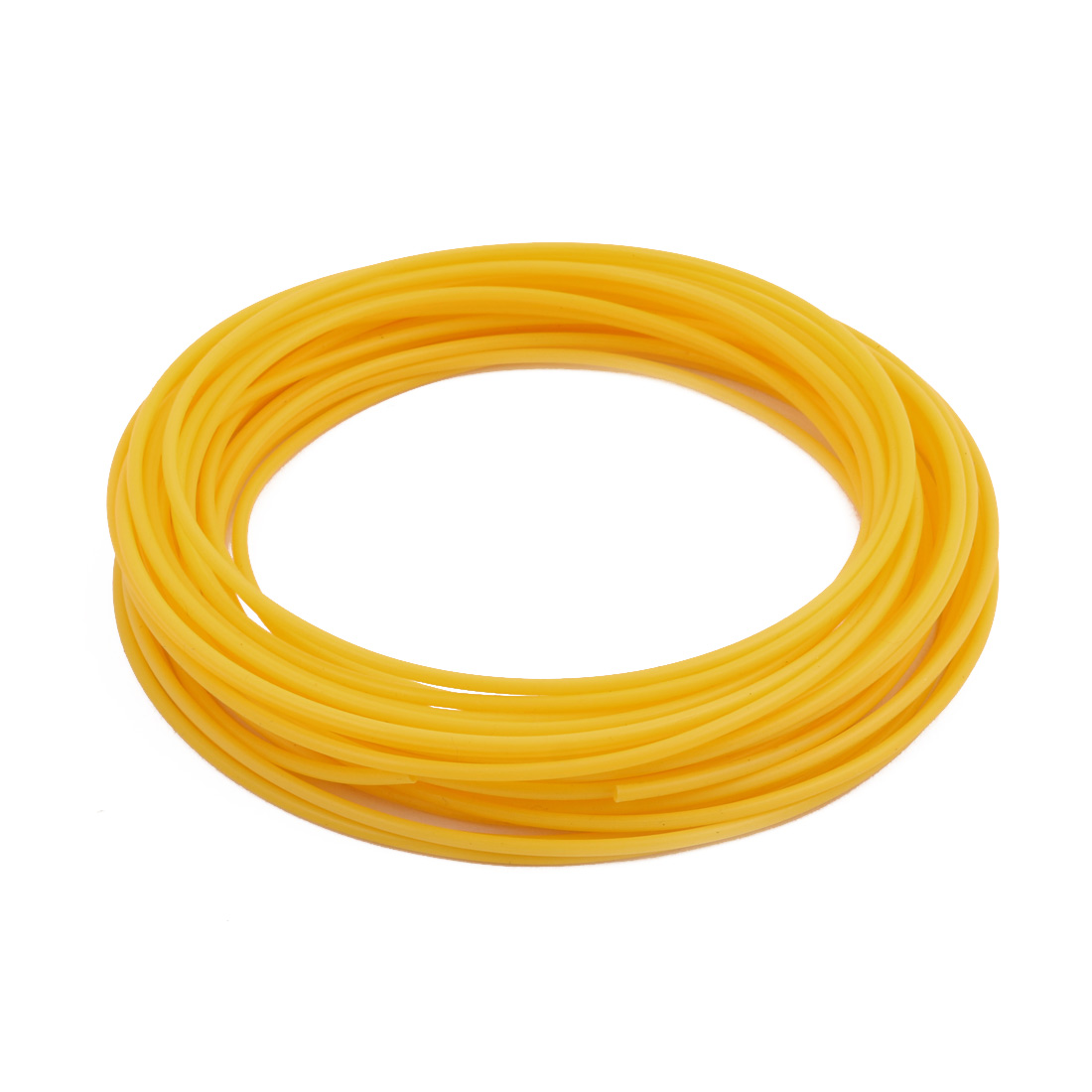 1.93mmx2.33mm PTFE Resistant High Temperature Yellow Tubing 10 Meters 32.8Ft