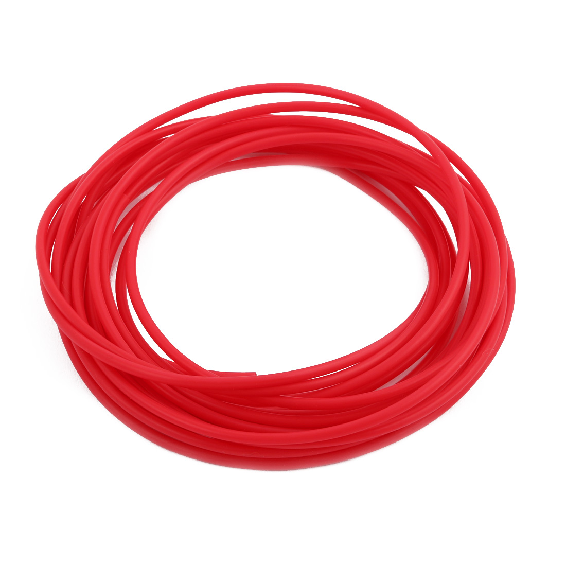 2.41mmx2.81mm PTFE Resistant High Temperature Red Tubing 5 Meters 16.4Ft