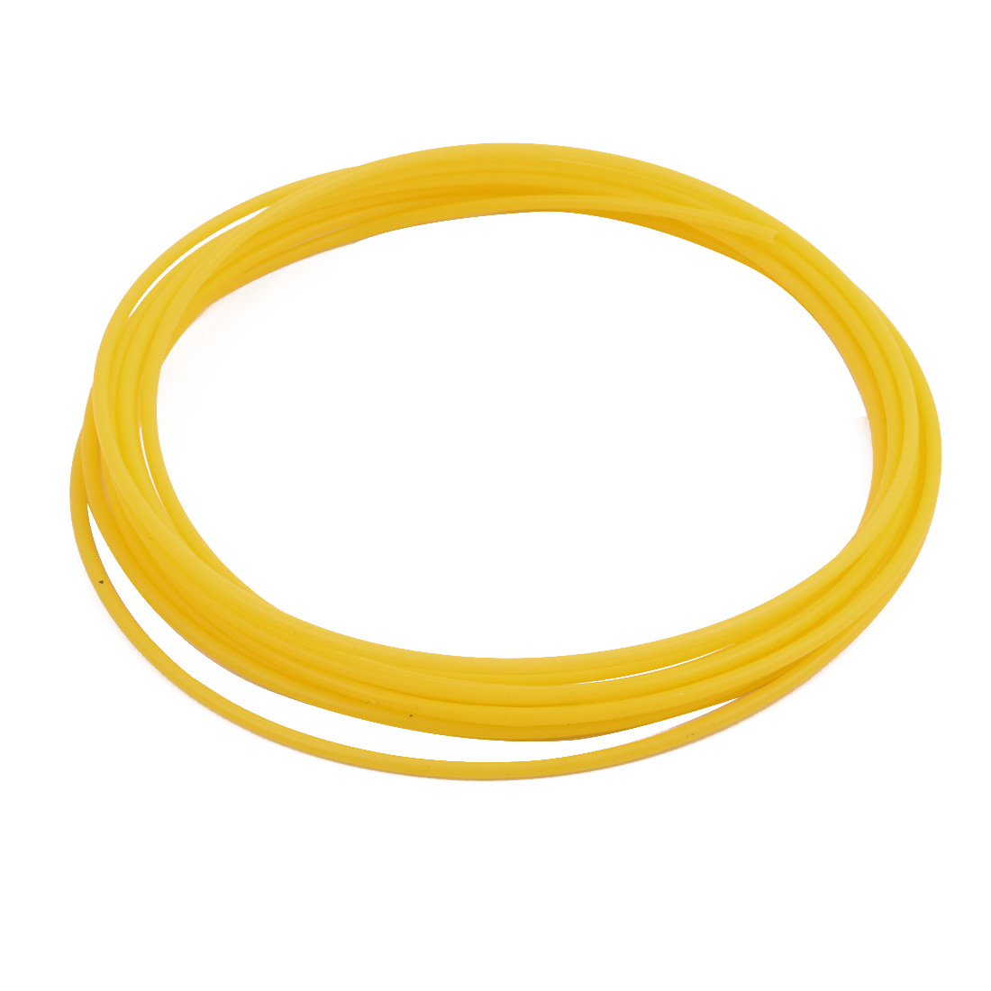 2.41mmx2.81mm PTFE Resistant High Temperature Yellow Tubing 5Meters 16.4Ft