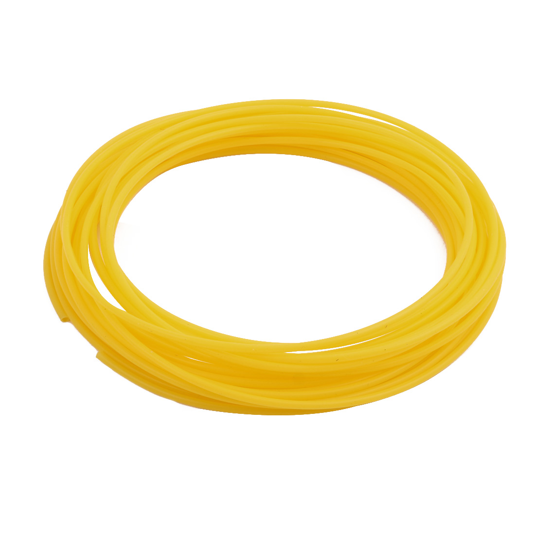 2.41mmx2.81mm PTFE Resistant High Temperature Yellow Tubing 10 Meters 32.8Ft