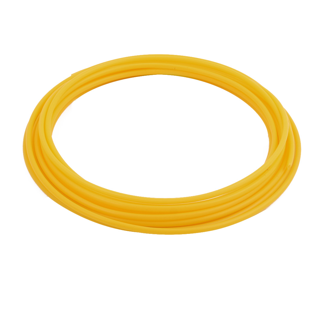 2.69mmx3.09mm PTFE Resistant High Temperature Yellow Tubing 5Meters 16.4Ft
