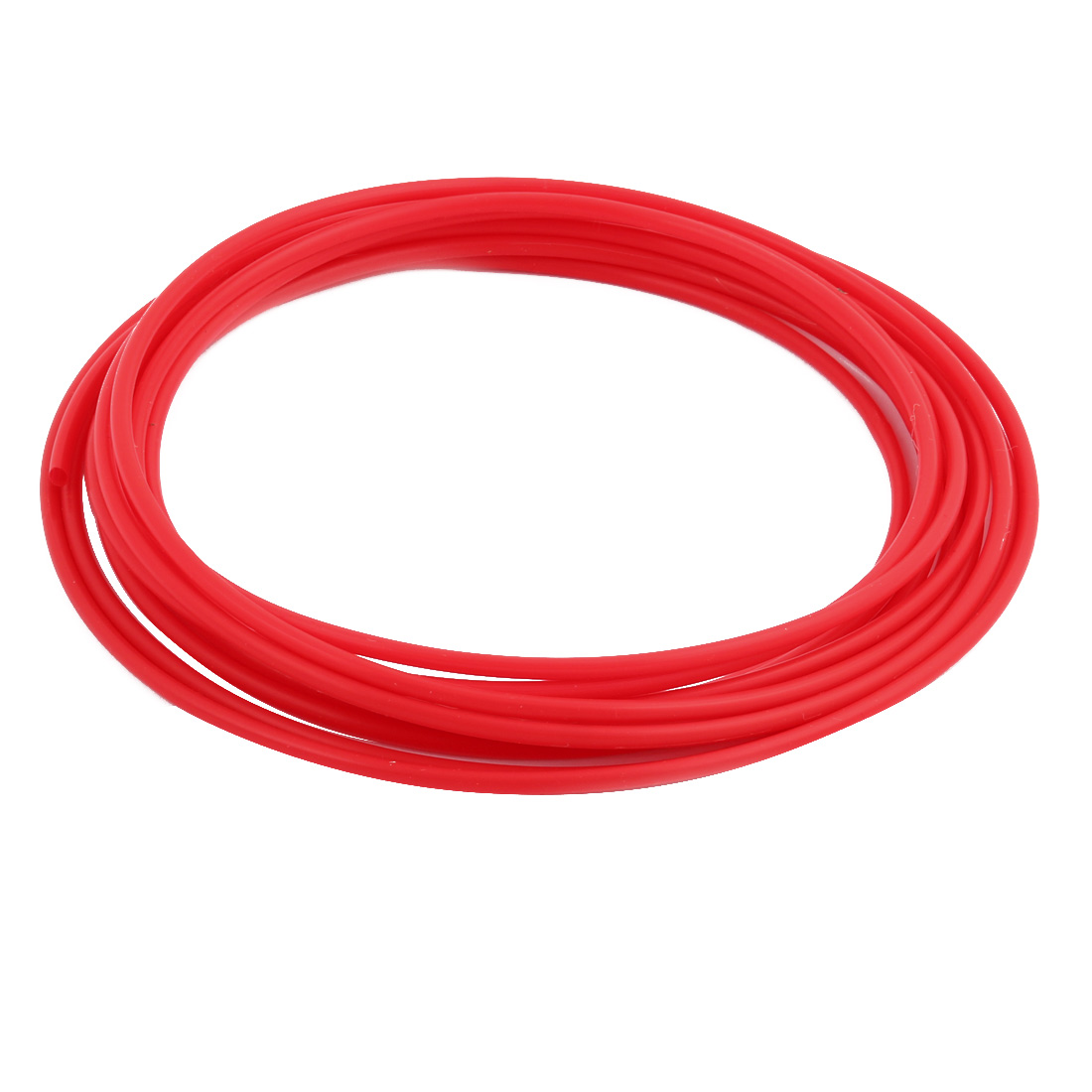 3mmx3.4mm PTFE Resistant High Temperature Red Tubing 5 Meters 16.4Ft