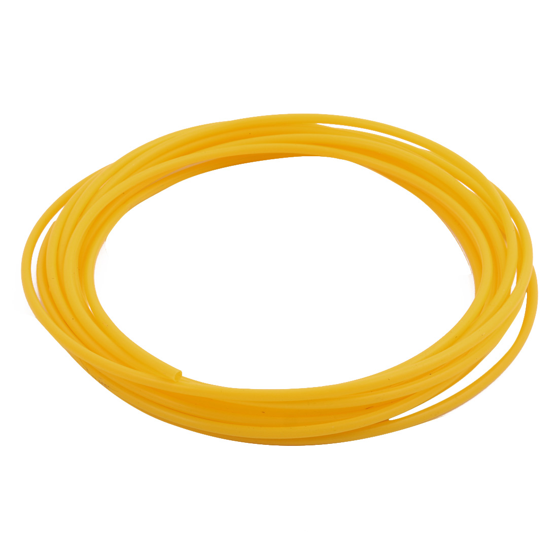 3mmx3.4mm PTFE Resistant High Temperature Yellow Tubing 5Meters 16.4Ft