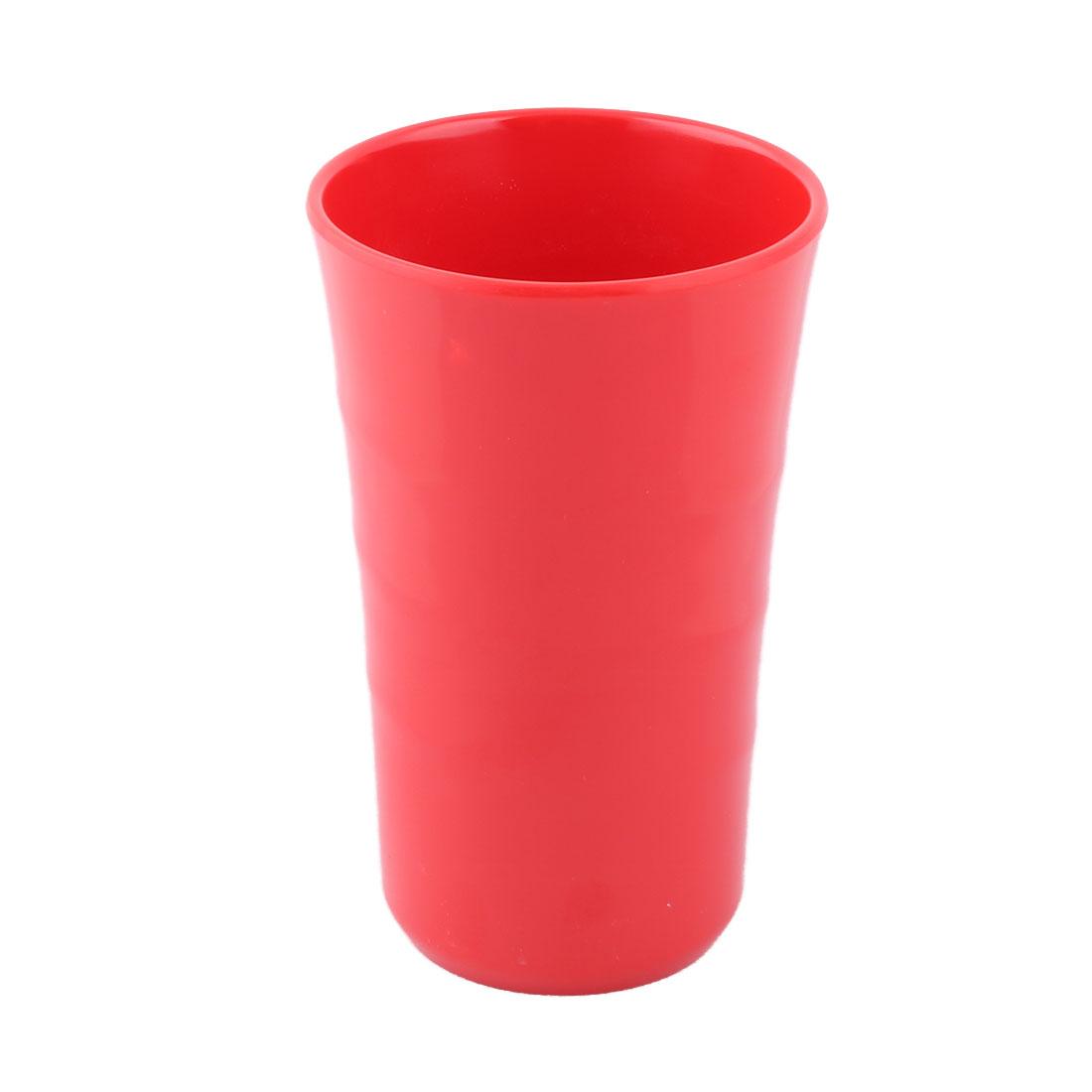Household Melamine Round Coffee Tea Water Milk Juice Drinking Cup Mug Red 400ml