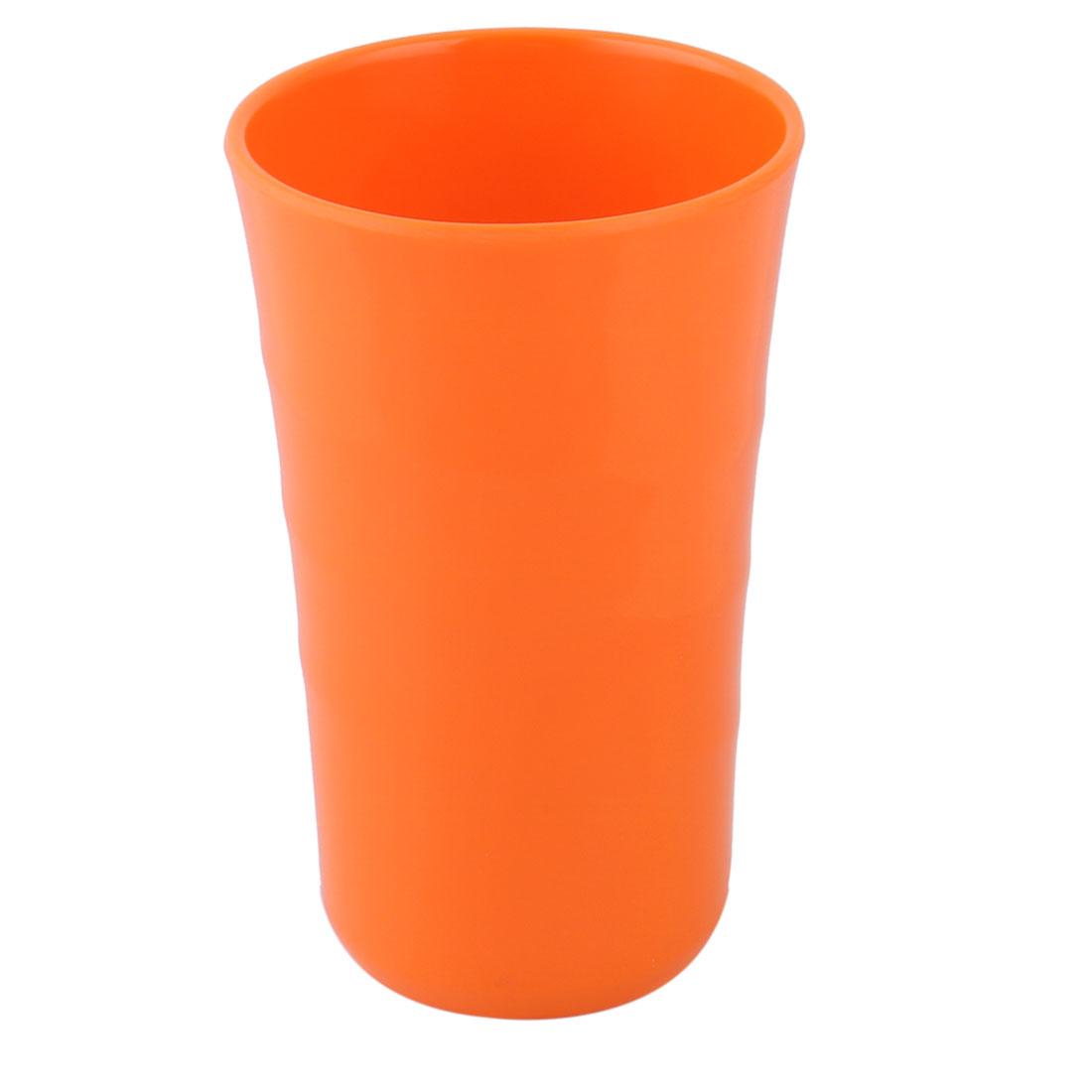 Home Office Melamine Round Coffee Tea Water Juice Drinking Cup Mug Orange 400ml