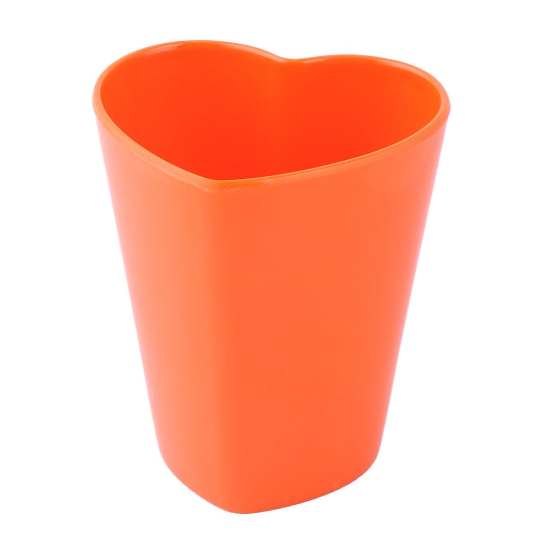Dining Room Melamine Heart Shaped Coffee Milk Juice Drinking Cup Mug Orange 300ml