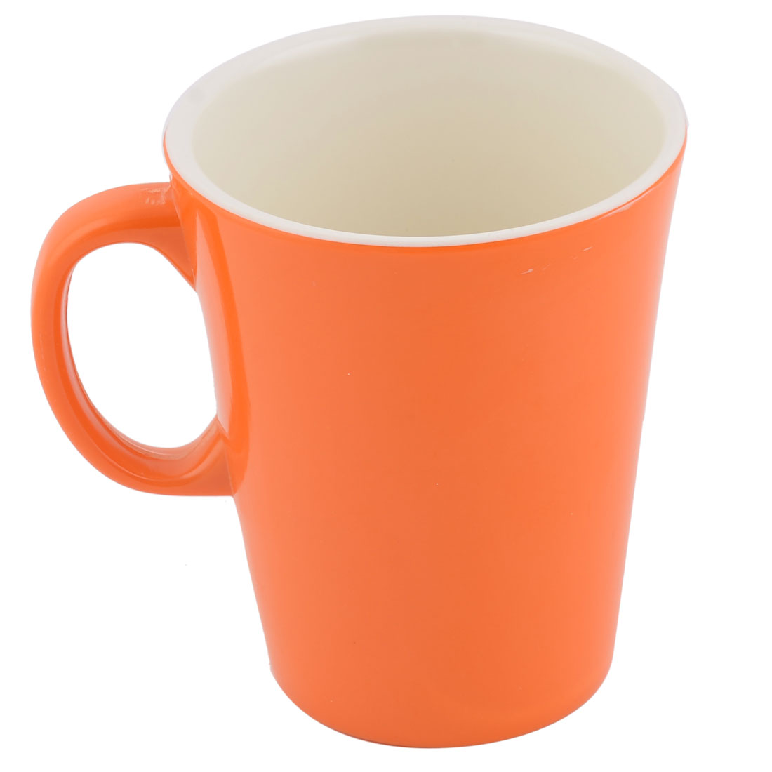 Family Cafe Melamine Cylinder Tea Water Drinking Storage Cup Mug Orange White