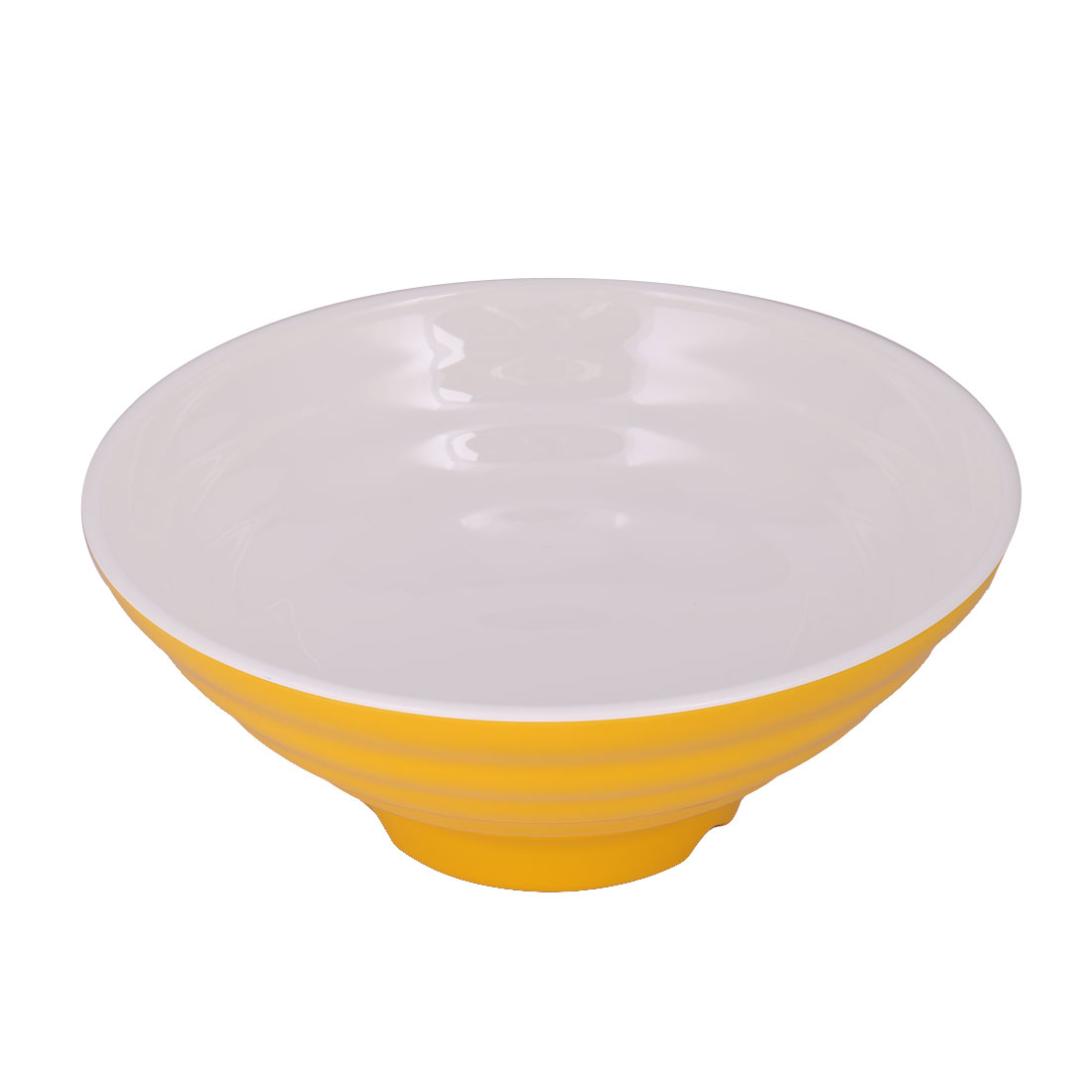 Home Kitchen Plastic Food Rice Soup Noodles Porridge Storage Container Bowl Yellow White