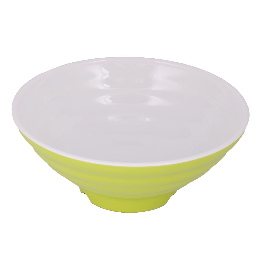 Home Kitchen Plastic Food Rice Soup Noodles Porridge Storage Container Bowl Green White
