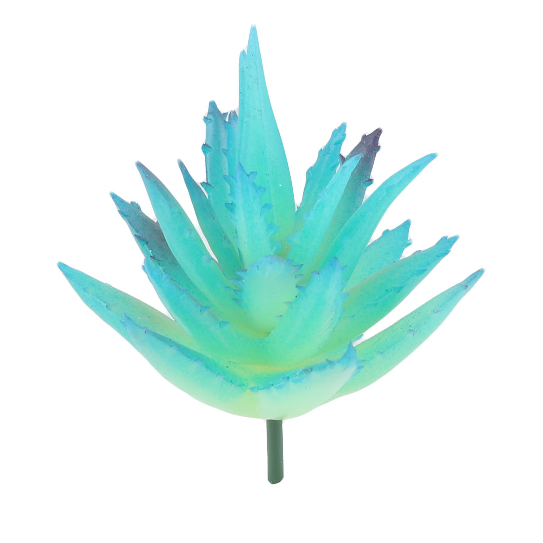 Desktop Plastic DIY Craft Artificial Aloe Vera Succulent Plant Ornament Blue