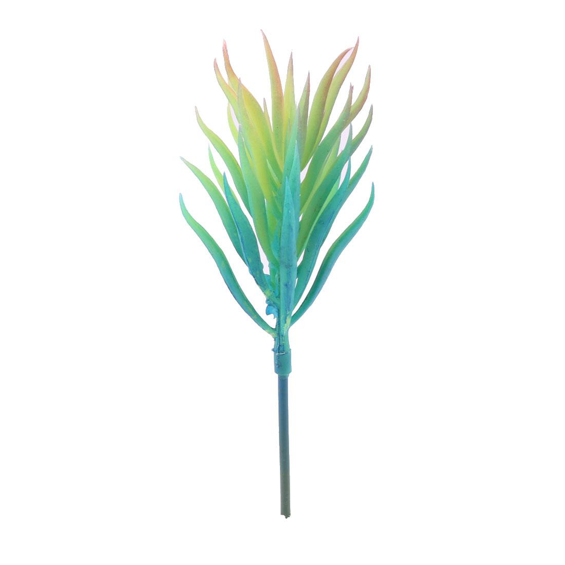 Garden Plastic DIY Craft Artificial Succulent Plant Decor Blue 1.6 Inches Dia