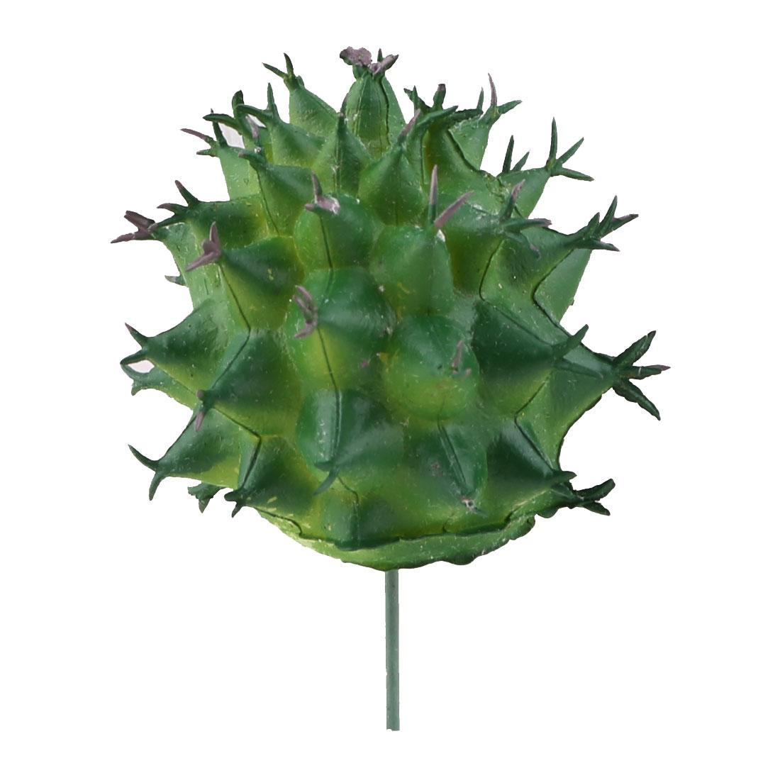 Home Plastic DIY Craft Artificial Emulation Succulent Plant Green 1.7 Inches Dia