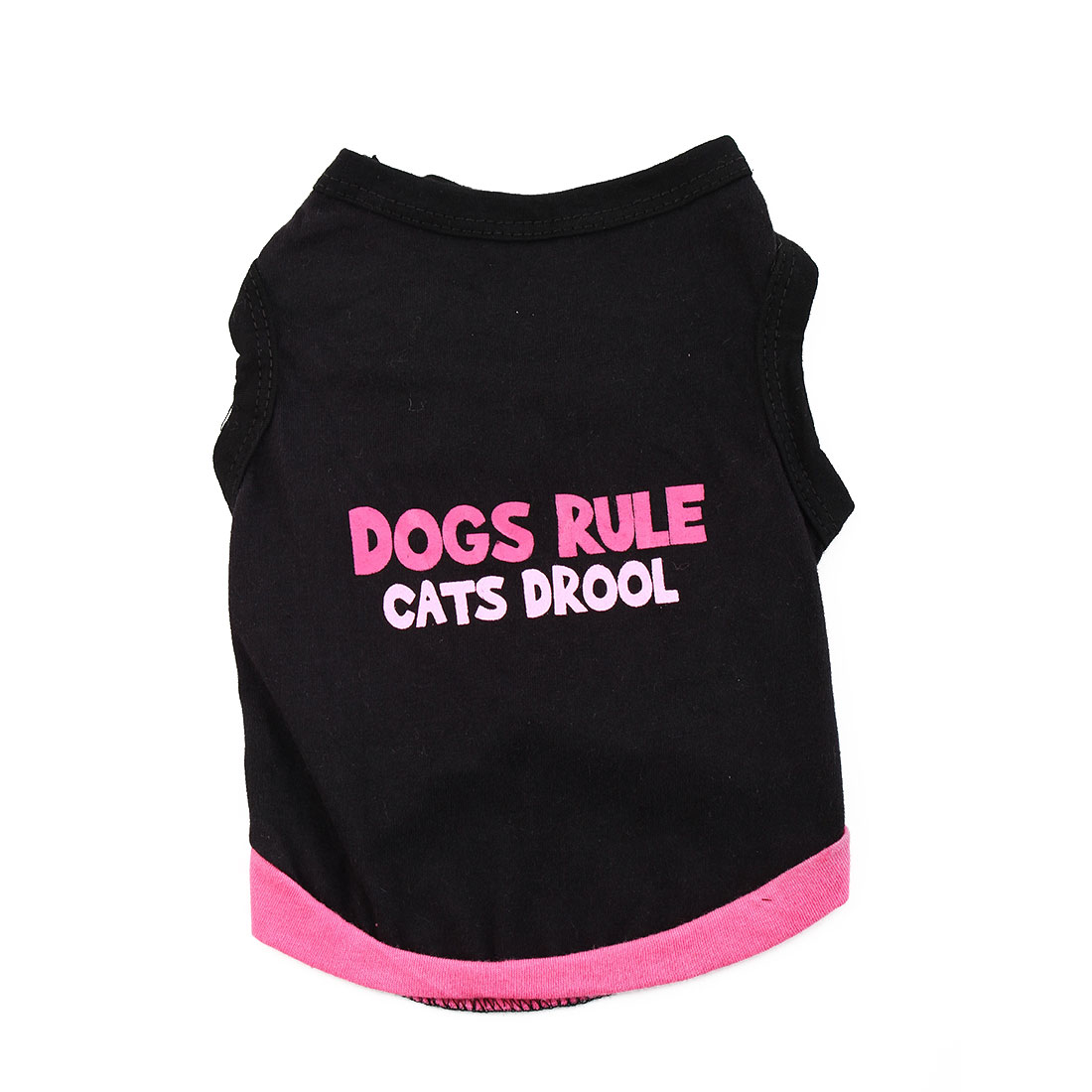 Summer Coat Puppy Costume Pet Clothes Clothing Small Dog Cat Vest T-shirt Tee Black Size S