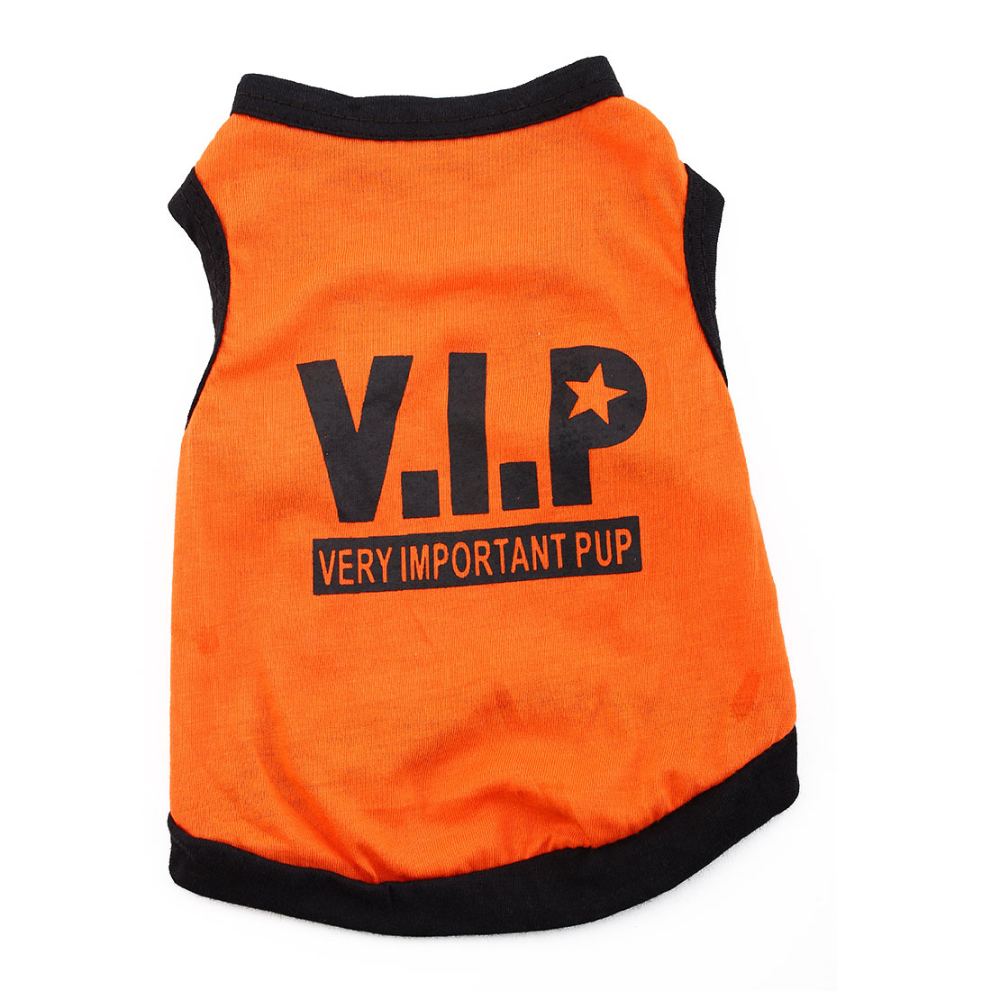 VIP Print Summer Coat Puppy Costume Pet Clothing Small Dog Cat Vest T-shirt Tee Orange Size S