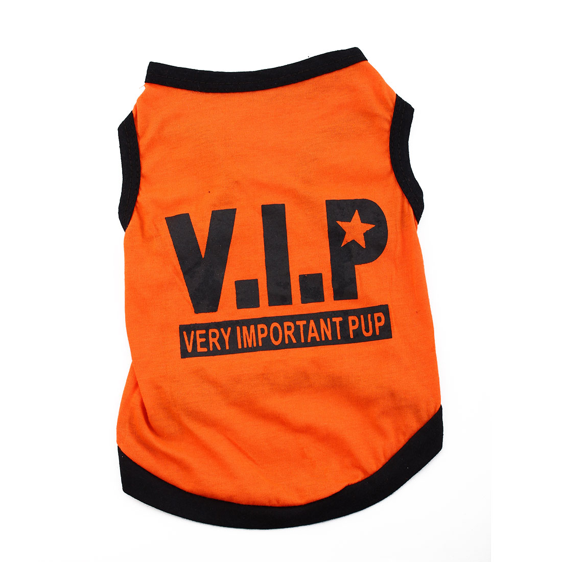 VIP Print Summer Coat Puppy Costume Pet Clothing Small Dog Cat Vest T-shirt Tee Orange Size L