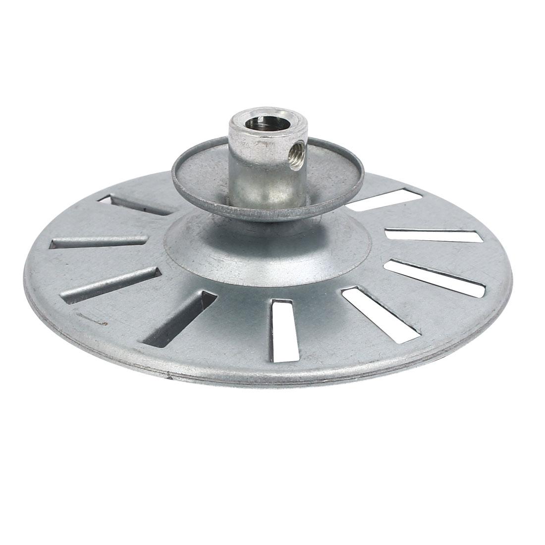 113mm x 40mm Metal Washing Machine Drive Pulley Wheel Silver Tone
