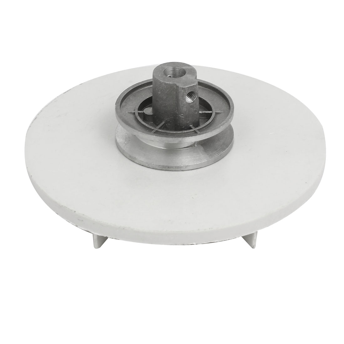 143mm Dia 54mm Height Washing Machine Drive Pulley Wheel Silver Tone