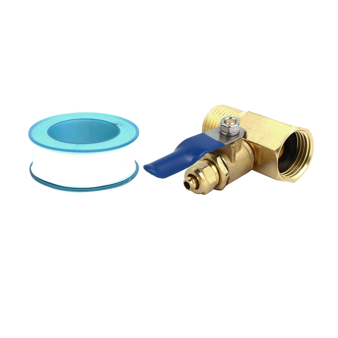 1/4BSP 3-Way Filter Ball Valve Faucet Tap Brass Tone for RO Water System