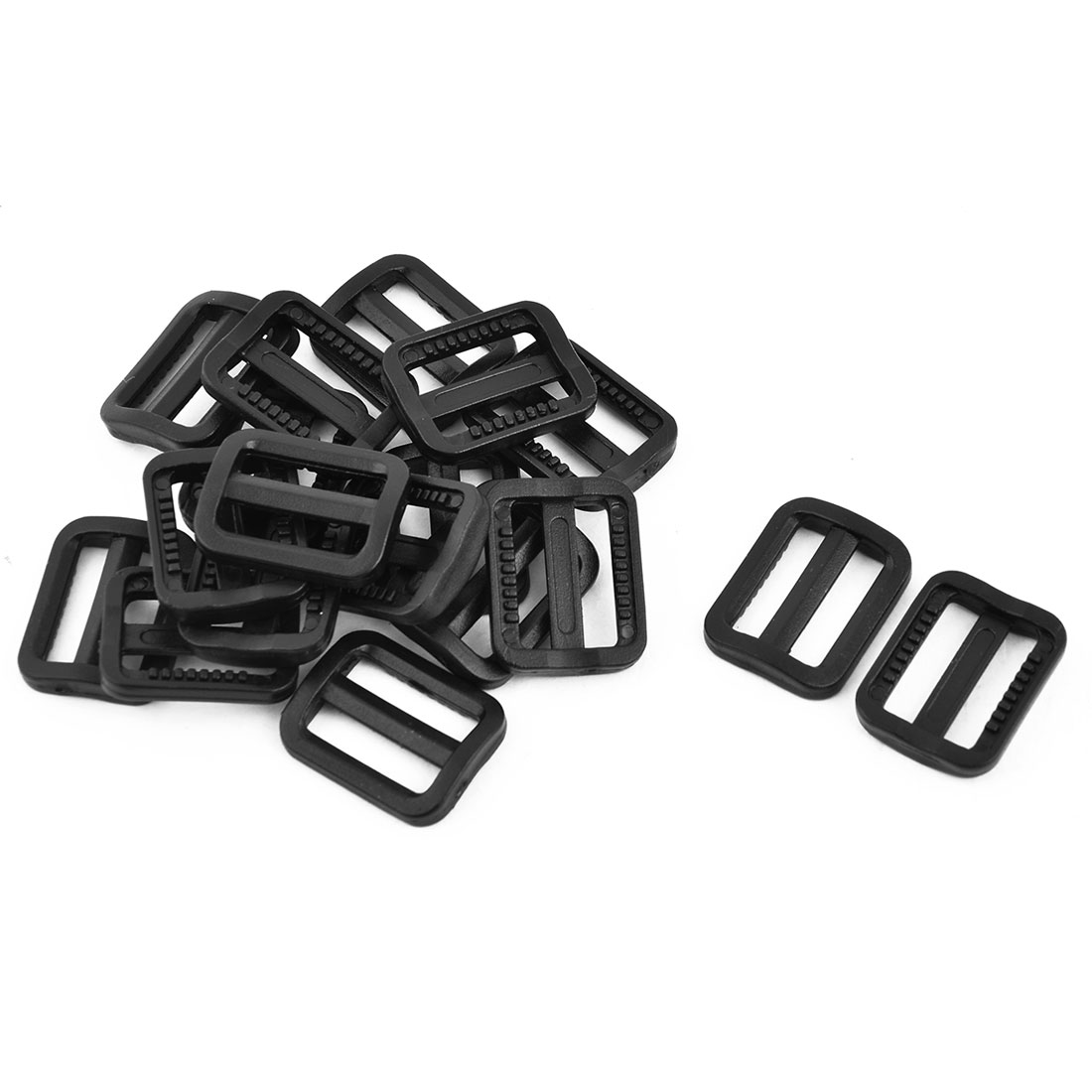 Backpack Luggage Bag Belt Plastic Adjustive Rectangle Tri Glide Fastener Buckle 18pcs