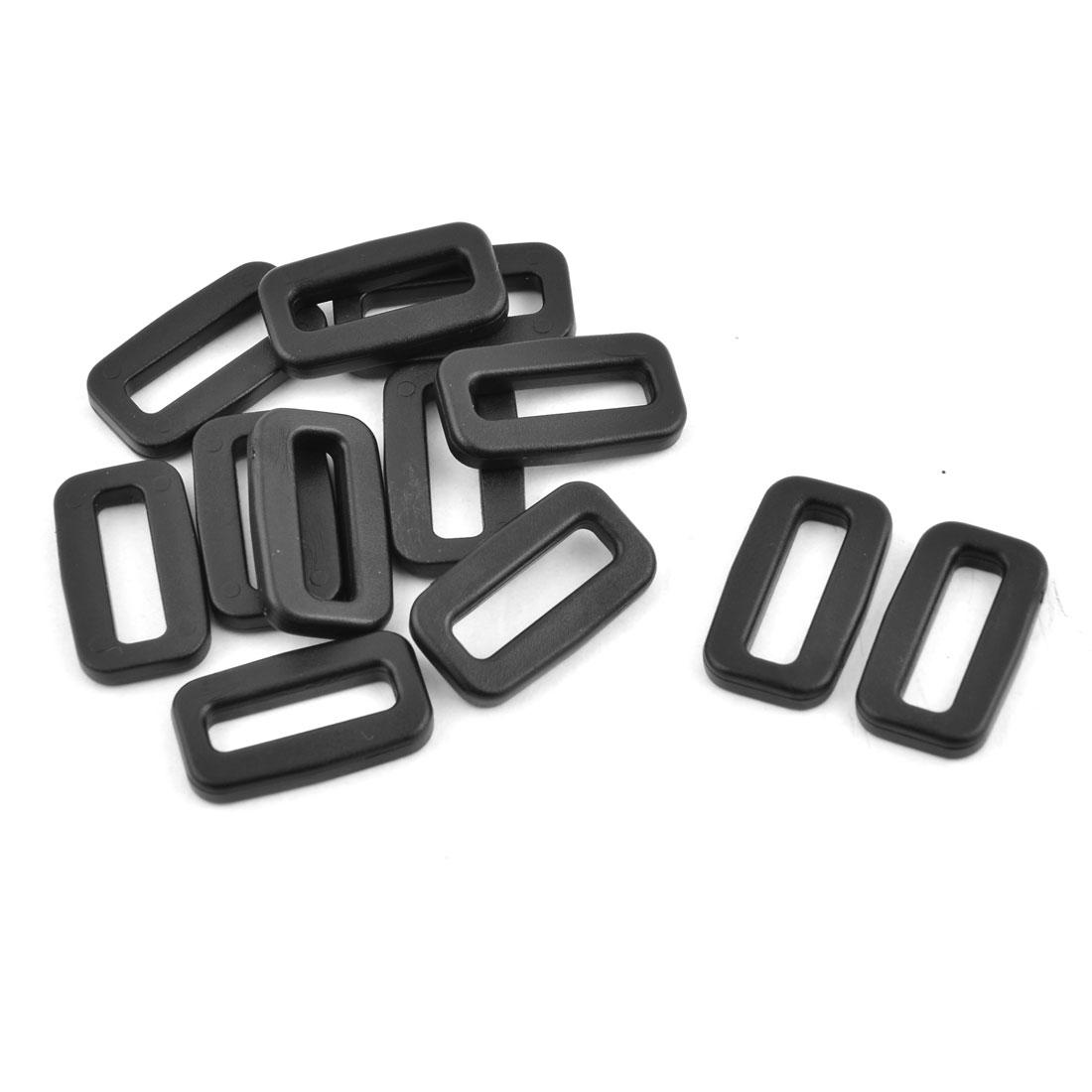 Plastic Schoolbag Belt Tension Fastener Tri Glide Buckles 20mm Strap Width 12pcs