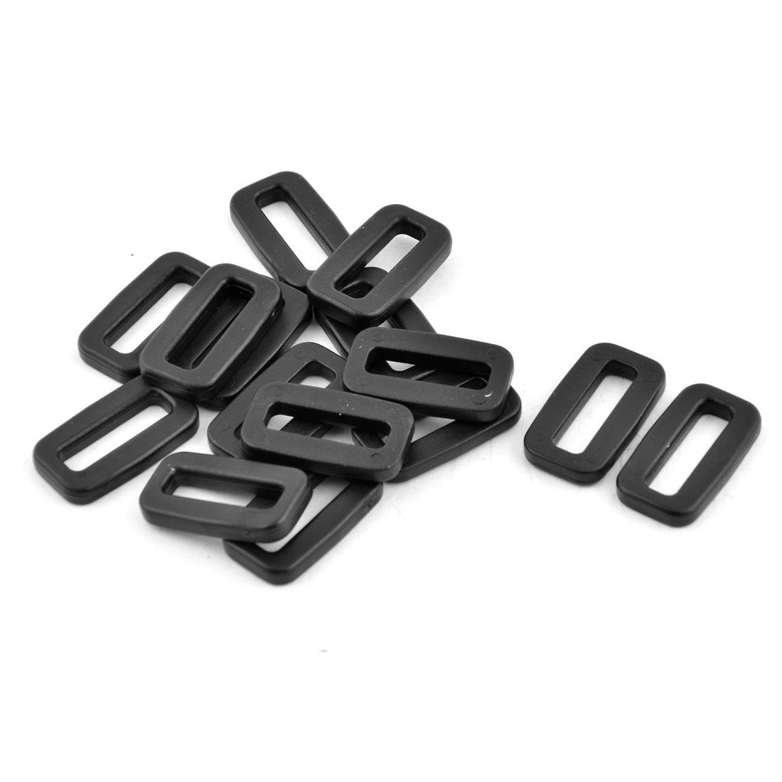 Plastic Schoolbag Belt Tension Fastener Tri Glide Buckles 20mm Strap Width 15pcs