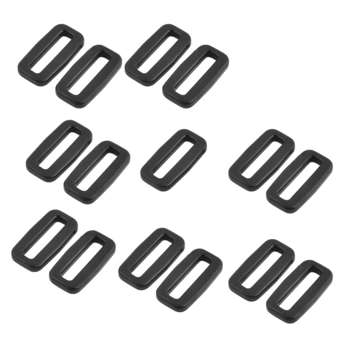 Bag Plastic Belt Removable Lock Tri Glide Buckles Black 25mm Strap Width 15 Pcs