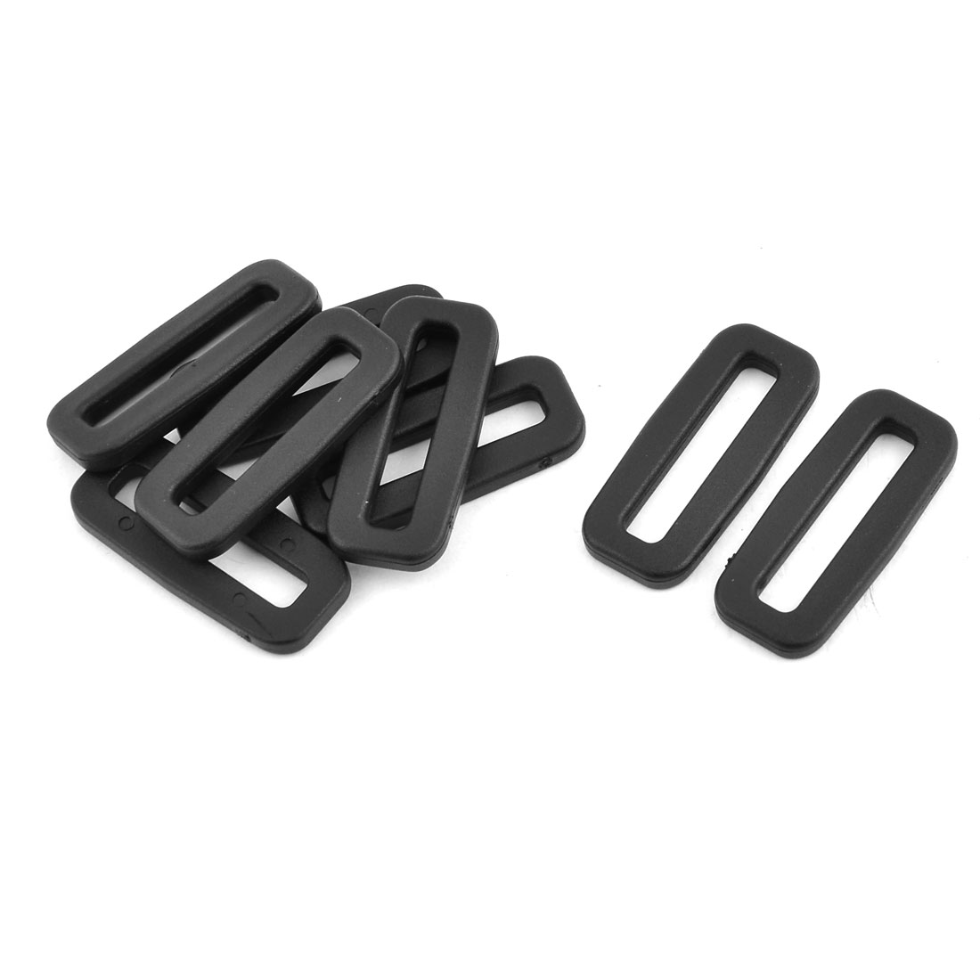 Plastic Backpack Tension Connector Tri Glide Buckles Black 32mm Strap Width 8pcs