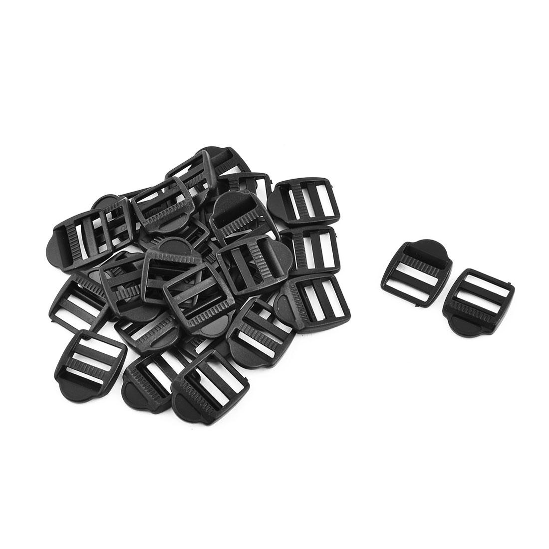Hiking Handbag Webbing Plastic Adjustable Rectangle Ladder Lock Fastener Buckle 30pcs