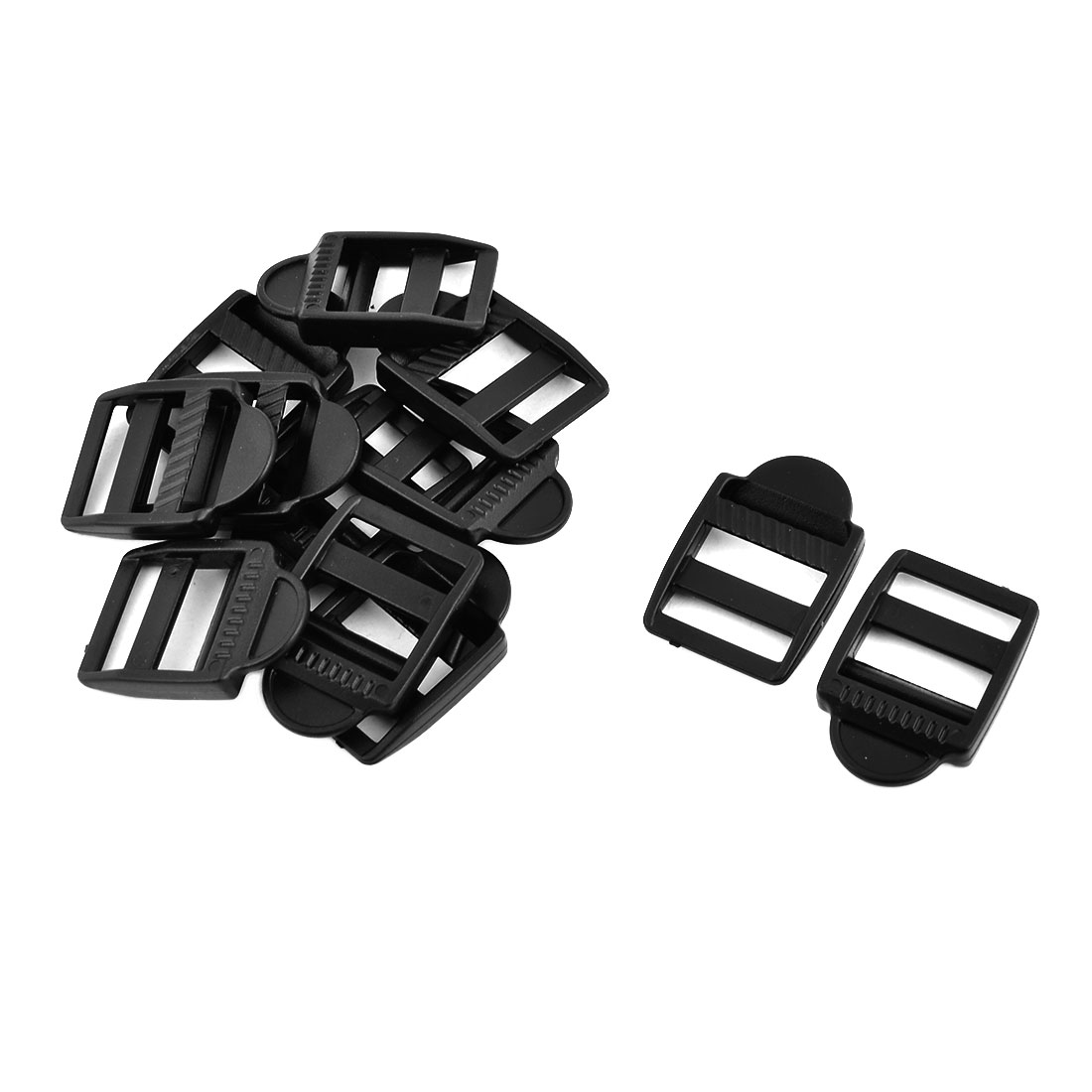 Outside Plastic Adjustable Suitcase Bag Strap Connector Ladder Lock Fastener Buckle 12pcs